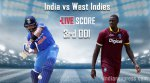 Live Score 3rd ODI: India lose Yuvraj after slow innings in Antigua