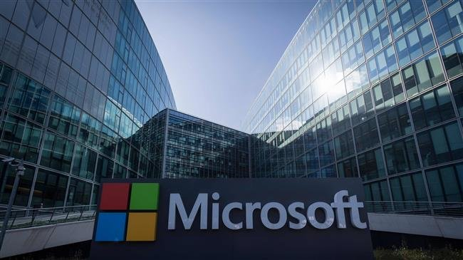 In this file photo taken on April 17, 2017 the French headquarters of Microsoft are seen in Paris. (Photo by AFP)