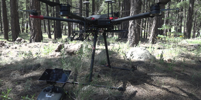 """As the Department of Interior and the U.S. Forest Service, we've been looking to use drones for several years now and really the technology has finally caught up to where we can efficiently use them on the fire as far as battery life and capacity,"" Jager said."