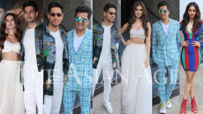 On Thursday, Sidharth Malhotra, Riteish Deshmukh, Tara Sutaria and Rakul Preet Singh launched their upcoming film, Marjaavaan's trailer in Mumbai. The actors made a stylish appearance at the launch. (Photos: Viral Bhayani)